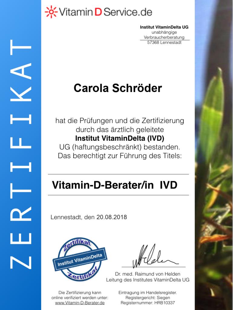 zertifizierter Vitamin D-Berater